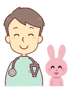 うさぎ と獣医師